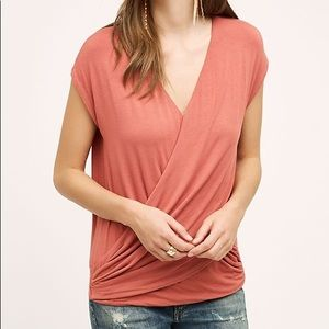 Anthropologie Bordeaux Crossover Top